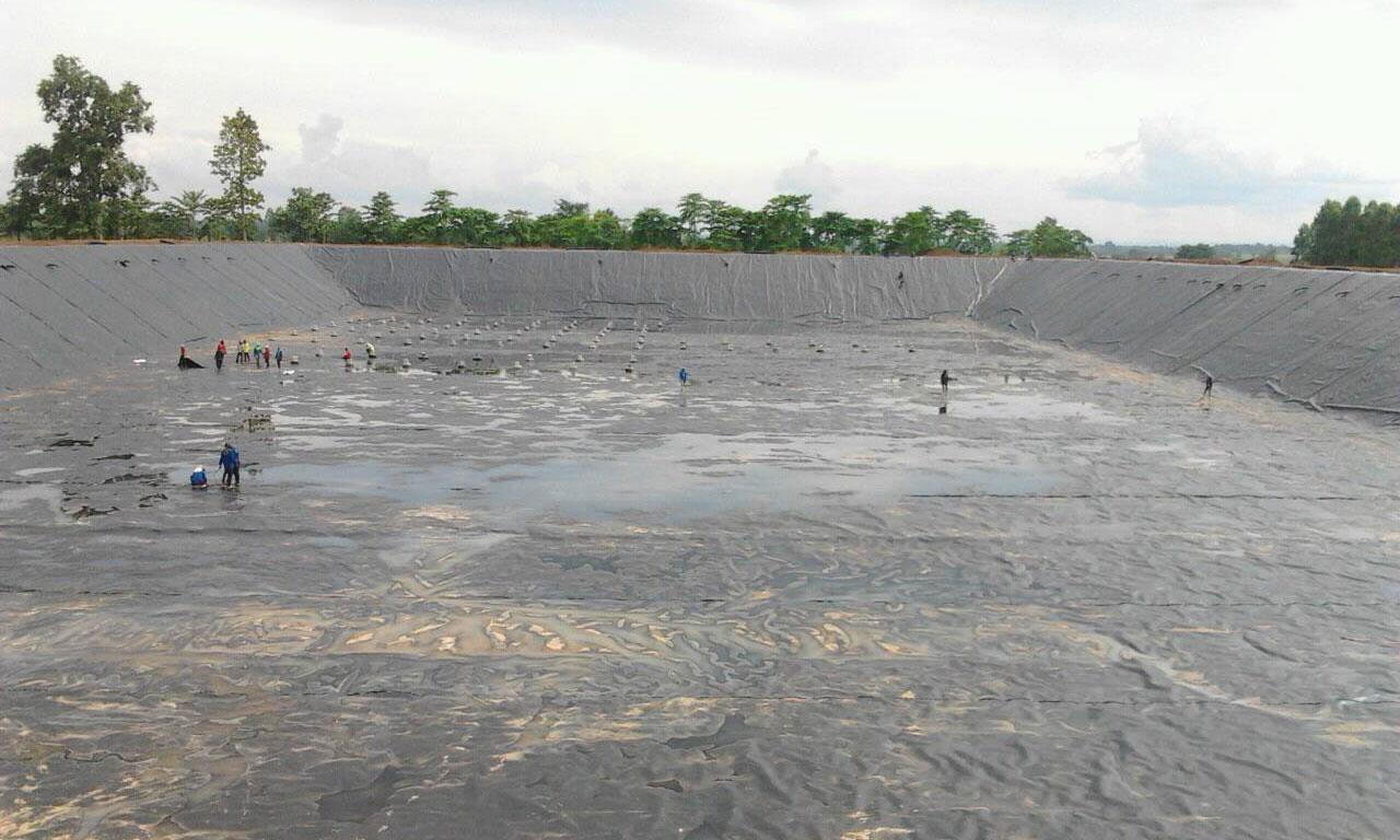 พลาสติกสำหรับบ่อน้ำ HDPE Sheet