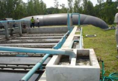 แบบ H-UASB (High suspension solid-Up-Flow Anaerobic Sludge Blanket)
